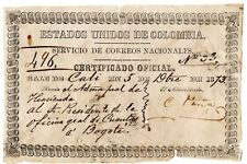 Colombia - Official Insured Letter (Cubierta) - Cali to Bogota - 1873 - Sc Go3v