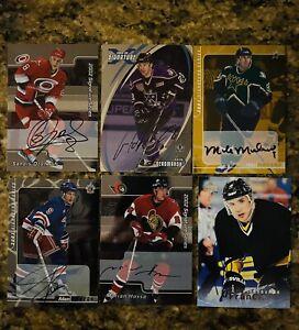 NHL Autographed Signed Lot Modano Francis Hossa Upper Deck Hall of Fame Hockey