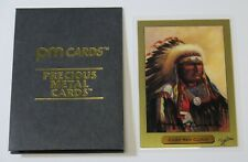 PM Cards Chief Red Cloud 1 Gram .999 Gold Precious Metal Cards #D /5000 W/ COA
