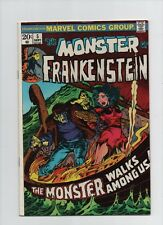 The Monster Of Frankenstein #5 - Monster Walks Among Us - (Grade 6.5) 1973