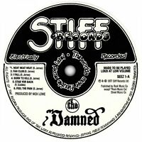 The Damned. Damned Damned Damned record label vinyl sticker. Punk
