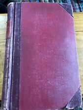 WW2 Antique Ledger 1950s-70s Accounts Cash Book Hand Written Harrogate Company