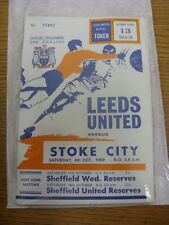 04/10/1969 Leeds United v Stoke City  (Faint Crease).  Thanks for taking the tim
