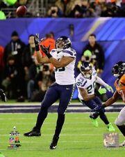 "2014 Super Bowl XLVIII MALCOLM SMITH ""INTERCEPTION"" Seattle Seahawks 8x10 photo"
