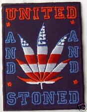 Aufnäher PATCH USA Amerika Mariuhana United and stoned