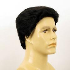 Perruque homme 100% cheveux naturel noir ref QUENTIN 1b