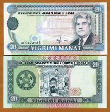 Turkmenistan, 20 Manat, 1995, Pick 4 (4b), Ex-USSR, UNC