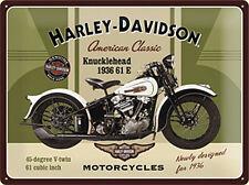 Harley Davidson Knucklehead klein Stahlschild 200mm x 150mm (NA)
