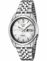 Seiko 5 Automatic Silver Dial Steel 37mm Case Size Mens Watch SNK355K1 RRP £169