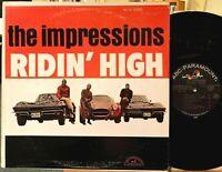 The Impressions Ridin' High Vinyl LP ABCS-545 Curtis Mayfield 1st Press 1966