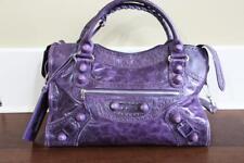 AUTHENTIC Balenciaga Purple Contour Stitch Limited Motorcycle Bag $2500 RARE