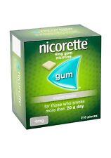 Nicorette Original Flavour Sugar-Free Gum 4mg Nicotine 210 Pieces Long Expiry