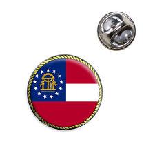 Georgia State Flag Lapel Hat Tie Pin Tack