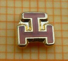 Masonic Lapel Pin ROYAL ARCH Triple Tau 5 mm Gold tone with red enamel  (58