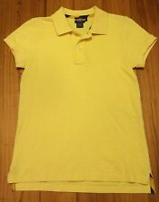 Ralph Lauren RUGBY Yellow Polo Shirt - Medium - Southern Preppy EUC