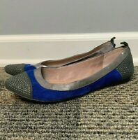 Vince Camuto Women's Toker Ballet Flats Size 7.5 B Suede Leather Blue Gray