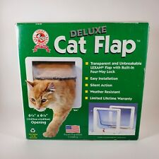 "IDEAL Pet Products Deluxe Cat Flap Clear Door 6 1/4"" x 6 1/4"" Opening  Pet"