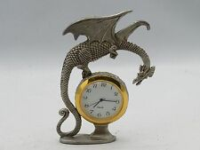 New Fantasy Magic & Dragons Gallo Fine Pewter Clock with Dragon