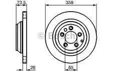 BOSCH Disco de freno (x2) 358mm ventilado BMW Serie 3 VOLKSWAGEN 0 986 479 259