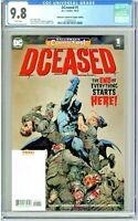 DCeased #1 CGC 9.8 Halloween ComicFest Capullo Edition Variant Cover