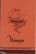Norwegen Kleiner Schiffs Reiseführer um 1937 Norge Norway