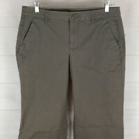 Khakis by GAP womens size 8L x 34 stretch solid gray mid rise bootcut pants EUC