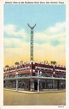 Texas postcard San Antonio, Exterior View of the Buckhorn Curio Store