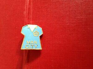 Vintage Football Enamel Badge Manchester City Shirt Design Coffer Northampton