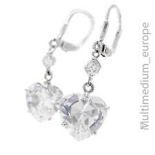 Prachtvolle Silber Ohrringe Bergkristall Herz silver earrings heart 🌺🌺🌺🌺🌺