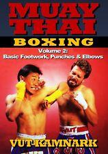 Muay Thai Boxing #2 Basic Footwork Punches & Elbows Dvd Vut Kamnark wai kru