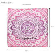 """Indian Ombre Square Floor Pillow Meditation Cushion Cover Ottoman Pouf 35""""x35"""""""
