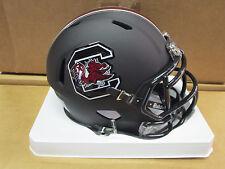 South Carolina Gamecocks 2016 MATTE BLACK Riddell Football SPEED Mini Helmet NEW