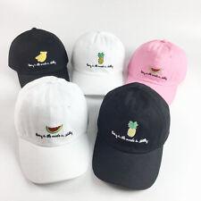 Black Pineapple Dad Hat Baseball Cap Unconstructed Adjustable Men's Fruit Caps