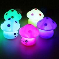 Kids Children Night Light LED Mushroom Lamp Nursery Bedroom Decor Home Gift L4R3