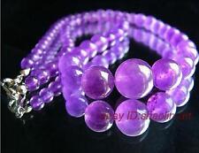 Fashion Women/'s 10 Mm Naturel Violet Jade Ronde Pierres Précieuses Perles Bracelet Bangle