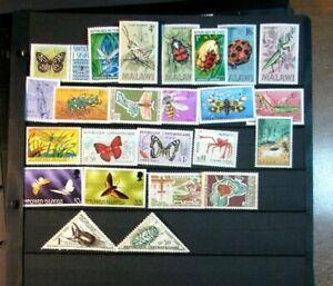 Stamp Lot of Moths & Beetles Mint L396