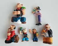 FIGURINES FIGURES LOT POPEYE OLIVE WIMPY VINTAGE RARE  KFS BULLY 80'S NO SNOOPY