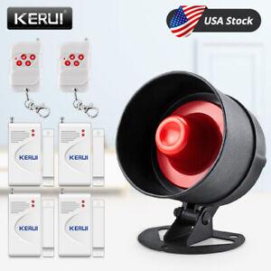 KERUI 433MHz Wireless Local Siren Speaker Burglar Alarm System for Home Shop