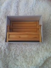 Dolls House 1:12th Scale Wooden Settle - Monks Bench