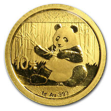 2017 1 gram Gold Chinese Panda Coin Sealed in Mint Pouch Brilliant Uncirculated