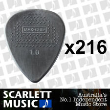 216 X Jim Dunlop Max Grip Nylon 1.00mm ( 1mm ) Gauge Grey Guitar Picks