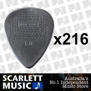 216 X Jim Dunlop Max Grip Nylon 1.00mm ( 1mm ) Gauge Grey Guitar Picks *NEW*