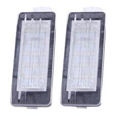 2x LED Error Free License Plate Light Lamp Fit For Renault Espace Scenic Laguna