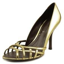 scarpe con chiusura sul tallone da donna oro , Numero 41