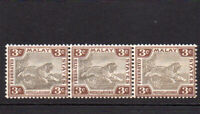 Malaya States Three 3 Cent Stamps c1900-01 Mounted Mint Hinged (58)