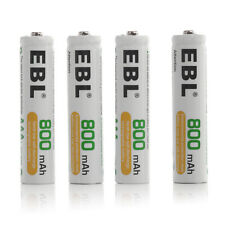 4x Ebl 800mAh Aaa Rechargeable Batteries 1.2V 3A Battery For Mp3 Rc Toys Camera