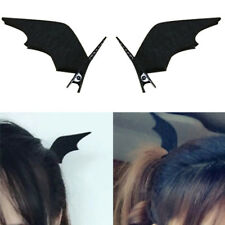 2Pcs Hair Clip Bat Ear Halloween Black Devil Wings Cosplay Dress up Accessories