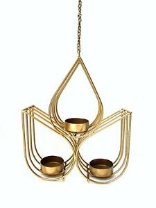 3 Drop Hanging Metal Tea Light Holder Wedding Party Candle Holder Lamp