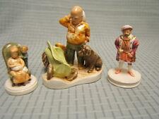 Pw Bastin Lot of 3 Vintage Sebastian Miniatures Henry Viii Mother Doc Berry
