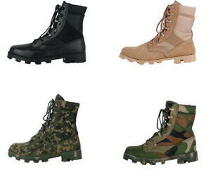 New Men's Camouflage Sports Military Training Running Shoes Ankle Combat  Boots